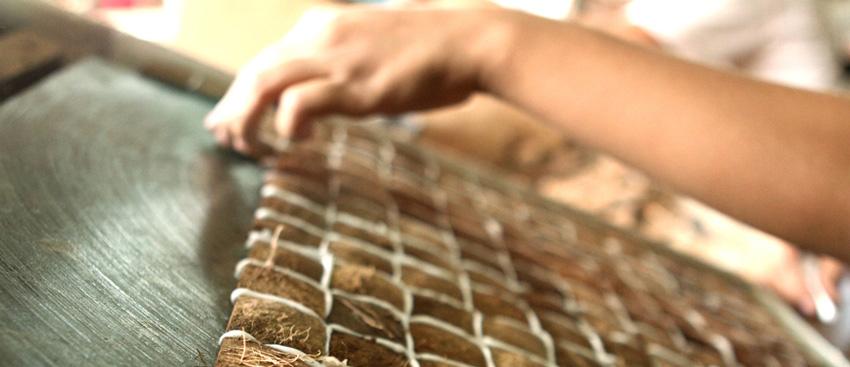 Texturas naturales: azulejos de coco (1/6)