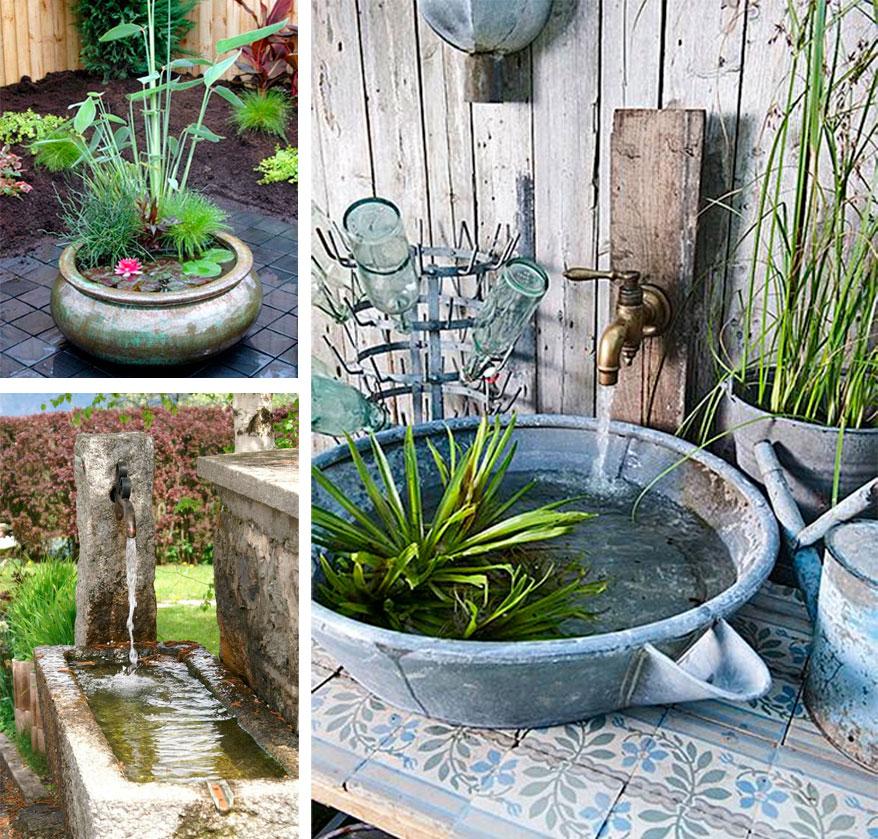 estanques el agua como elemento decorativo la